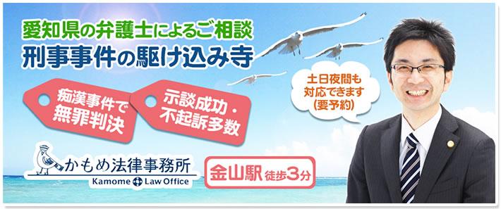 愛知県の弁護士によるご相談 刑事事件の駆け込み寺 痴漢事件で無罪判決 示談成功不起訴多数 かもめ法律事務所